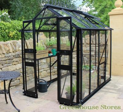 Eden Birdlip 4x8 Greenhouse with Black Powder Coating