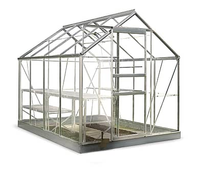 8x6 Halls Popular Greenhouse - Horticultural Glass