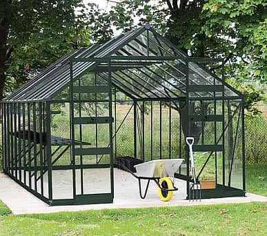 Halls Cotswold Bourton Green 10x16 Greenhouse - Polycarbonate Glazing