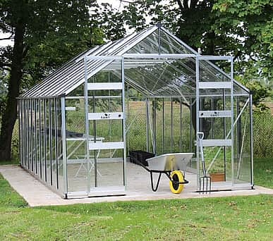Halls Cotswold Bourton Silver 10x20 Greenhouse - Polycarbonate Glazing