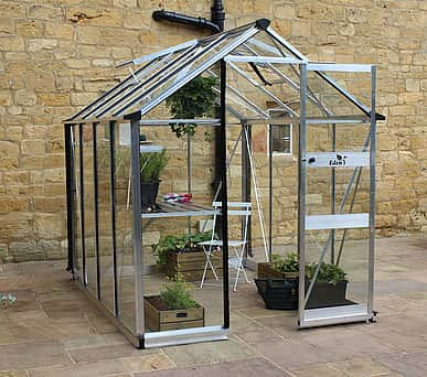 Halls Cotswold Burford Silver 6x10 Greenhouse - Horticultural Glass