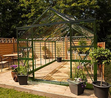 Eden Regal 8x14 Green Greenhouse - 6mm Polycarbonate Glazing