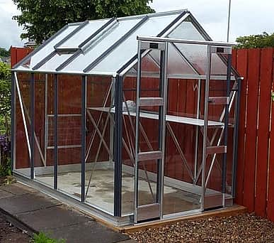 Elite Streamline 5x12 Greenhouse - Horticultural Glazing