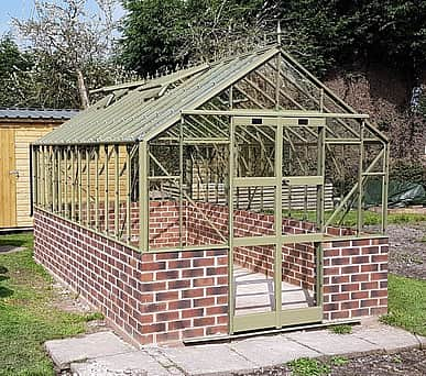 Elite Thyme 8x10 Dwarf Wall Greenhouse - Toughened Glazing