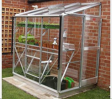 Elite Windsor 4x16 Lean to Greenhouse - 3mm Horticultural Glazing