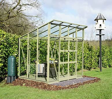 Elite Edge 6x14 Pent Roof Greenhouse - Toughened Glazing