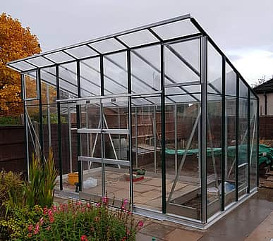 Elite Edge 8x10 Pent Roof Greenhouse - Toughened Glazing