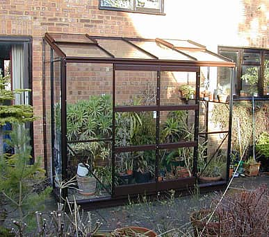 Elite Kensington 4x12 Lean to Greenhouse - 6mm Polycarbonate Glazing