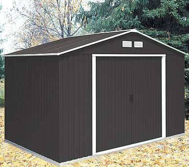 Emerald Anthracite Springdale 10x12 Metal Shed
