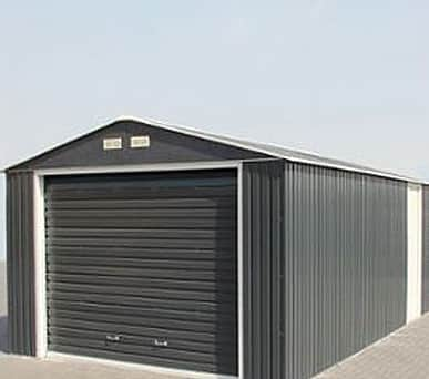 Emerald Olympian Anthracite 12x26 Metal Garage