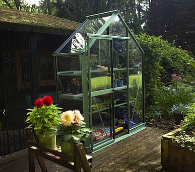 Evika G1 6x2 Pale Green Greenhouse - Clear Acrylic