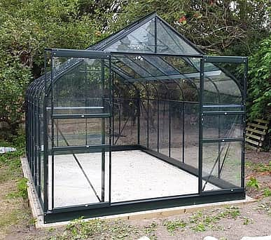 Halls Supreme Green 8x14 Greenhouse - 3mm Toughened Glazing
