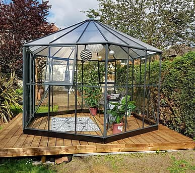Halls Atrium Grey Hexagonal Greenhouse