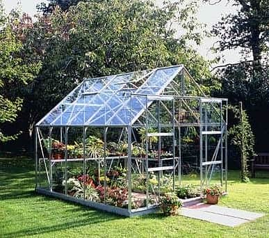 Halls Magnum Silver 8x10 Greenhouse - 6mm Polycarbonate Glazing