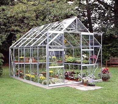 Halls Magnum Silver 8x12 Greenhouse - 3mm Toughened Glazing