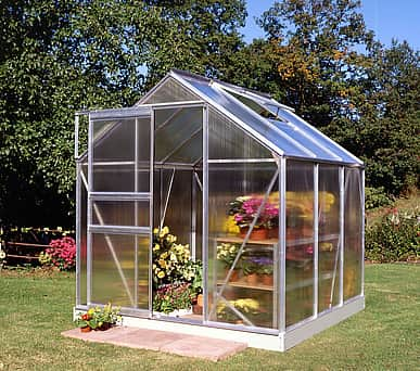 6x6 Halls Popular Greenhouse - Polycarbonate Glazing