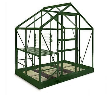 6x4 Green Halls Popular Greenhouse - Horticultural Glass