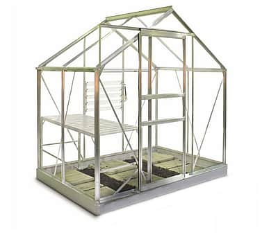 6x4 Halls Popular Greenhouse - Horticultural Glass