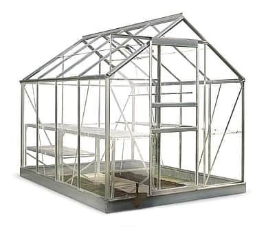 8x6 Halls Popular Greenhouse - Toughened Glass