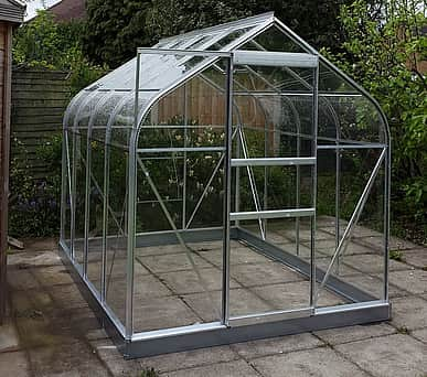 Halls Supreme Silver 8x6 Greenhouse - 3mm Toughened Glazing