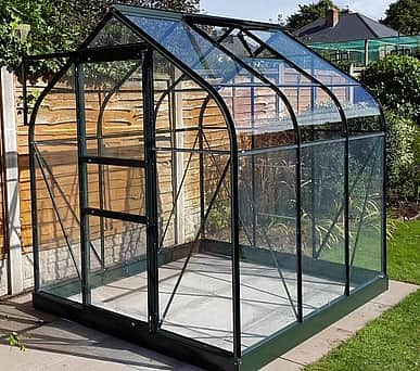 Halls Supreme Green 6x6 Greenhouse - 3mm Toughened Glazing