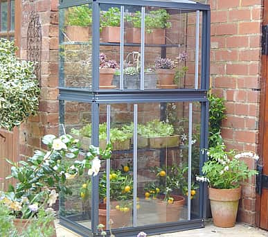 2x3 Lichfield Mini Greenhouse in Grey