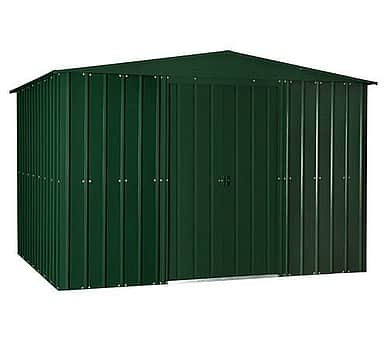 Lotus 10x8 Apex Metal Shed Heritage Green