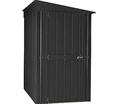 Lotus 4x8 Lean To Shed Anthracite Grey