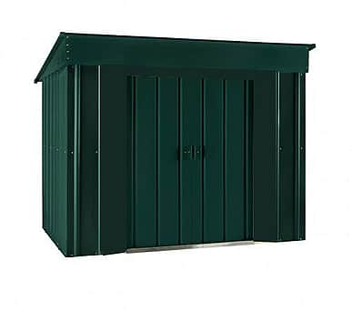 Lotus 6x4 Low Pent Metal Shed Heritage Green