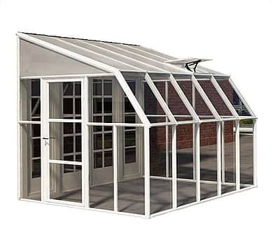 Rion Sun Room 8x10 Lean to Greenhouse - Polycarbonate Glazing