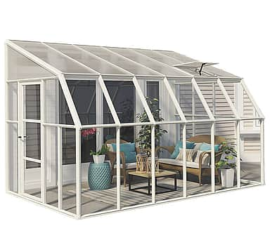 Rion Sun Room 8x12 Lean to Greenhouse - Polycarbonate Glazing