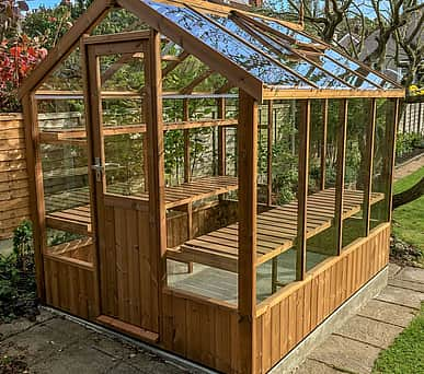 Swallow Kingfisher 6x8 Wooden Greenhouse
