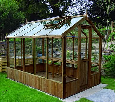 Swallow Kingfisher 6x14 Wooden Greenhouse