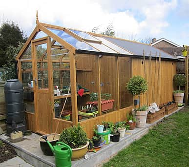 Swallow Kingfisher 6x6 Greenhouse + 4ft Shed Combination