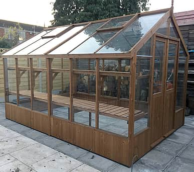 Swallow Raven 8x10 Wooden Greenhouse