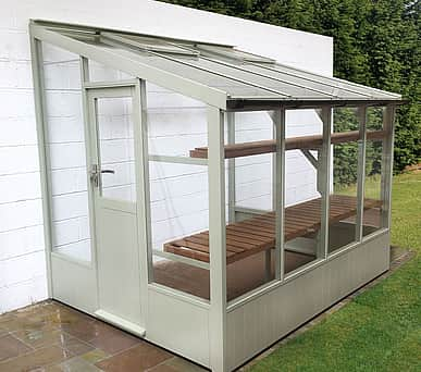 Swallow Starling 6x10 Low Height Lean to Greenhouse