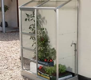 Vitavia 2x4 IDA 900 Lean to Greenhouse - Toughened Glass