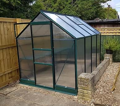 Vitavia 6x12 Green Apollo 7500 Greenhouse - Polycarbonate Glazing