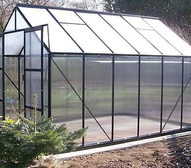 Vitavia 8x14 Black Phoenix 11500 Greenhouse - Polycarbonate Glazing