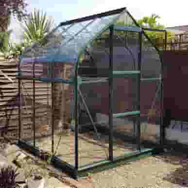 Vitavia 6x6 Green Orion 3800 Greenhouse - Toughened Glass