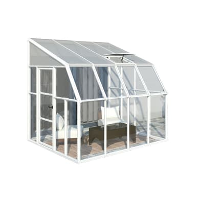 Rion Sun Room 8x8 Lean to Greenhouse - Polycarbonate Glazing