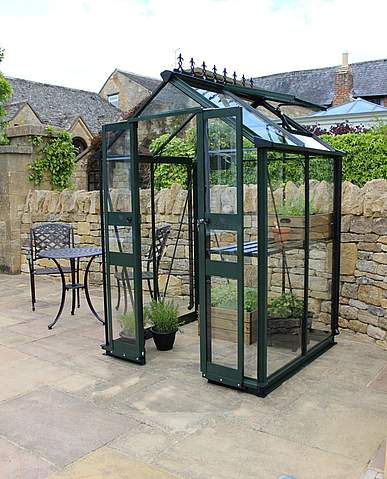 4x6 Green Halls Cotswold Birdlip Greenhouse - Toughened Glass
