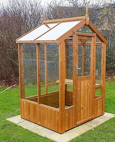 Swallow Robin 5x4 Wooden Greenhouse
