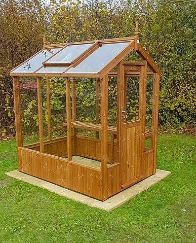 Swallow Robin 5x6 Wooden Greenhouse