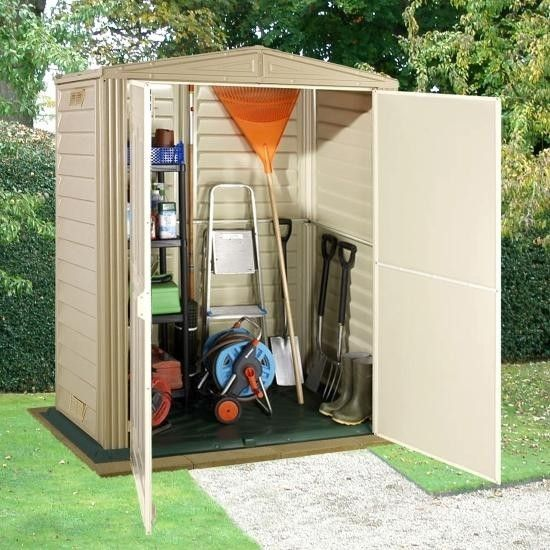 Duramax 5x3 little hut plastic shed greenhouse stores for Garden shed 5x3