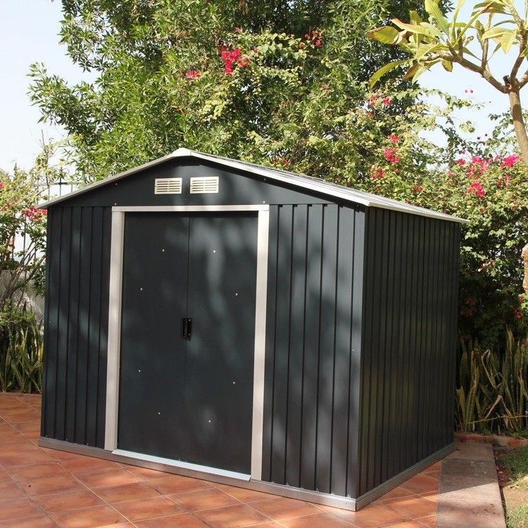 Emerald Anthracite Rosedale Metal Shed