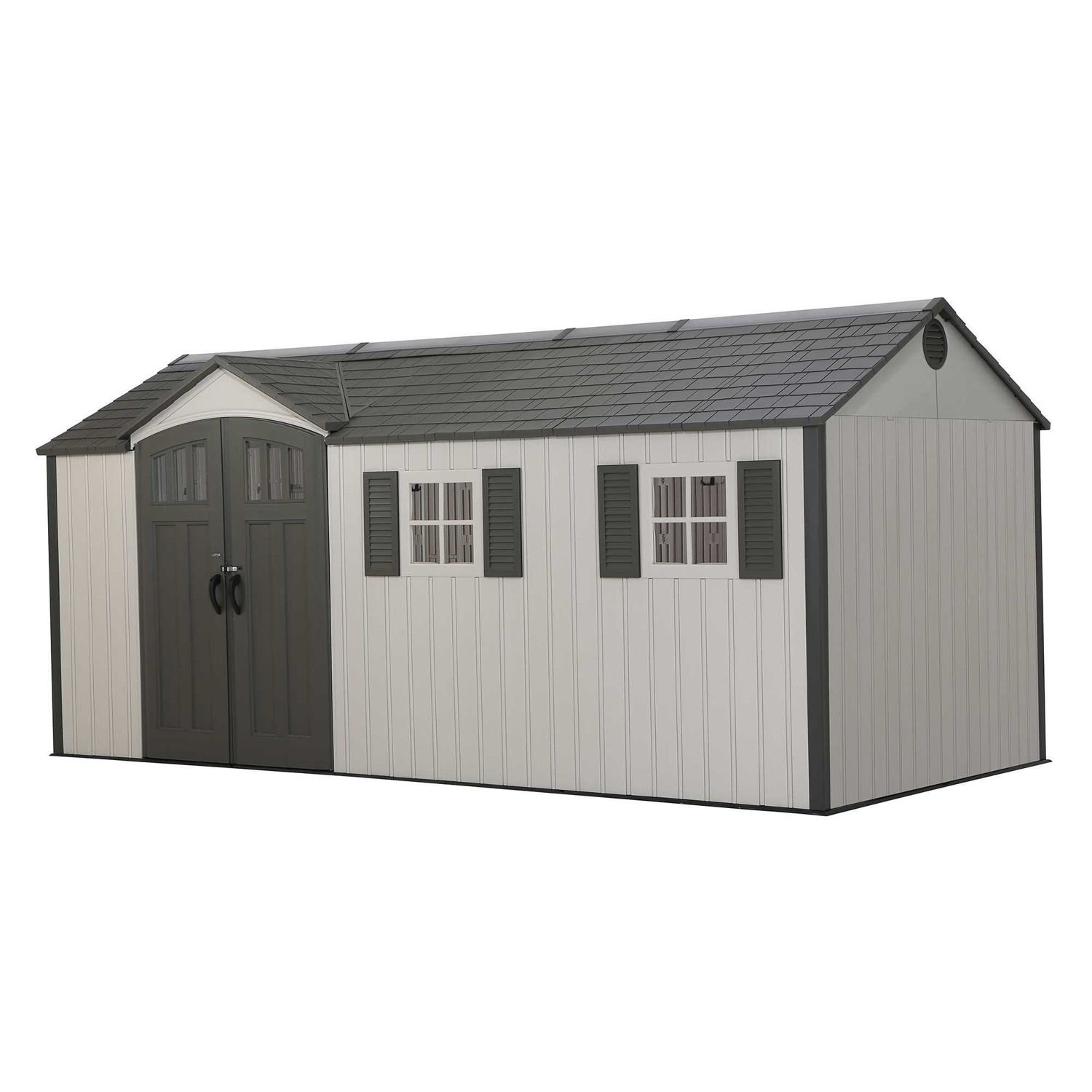 Lifetime 17 5x8 Plastic Shed Greenhouse Stores