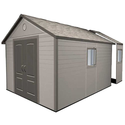 Lifetime 11x16 Heavy Duty Plastic Shed Greenhouse Stores