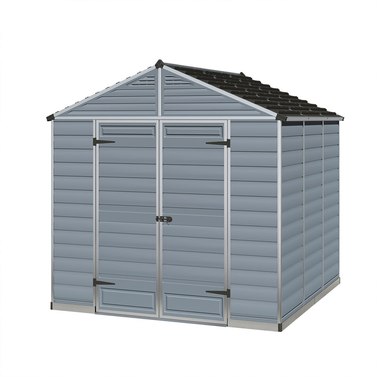 Palram 8x8 Plastic Skylight Grey Shed Greenhouse Stores