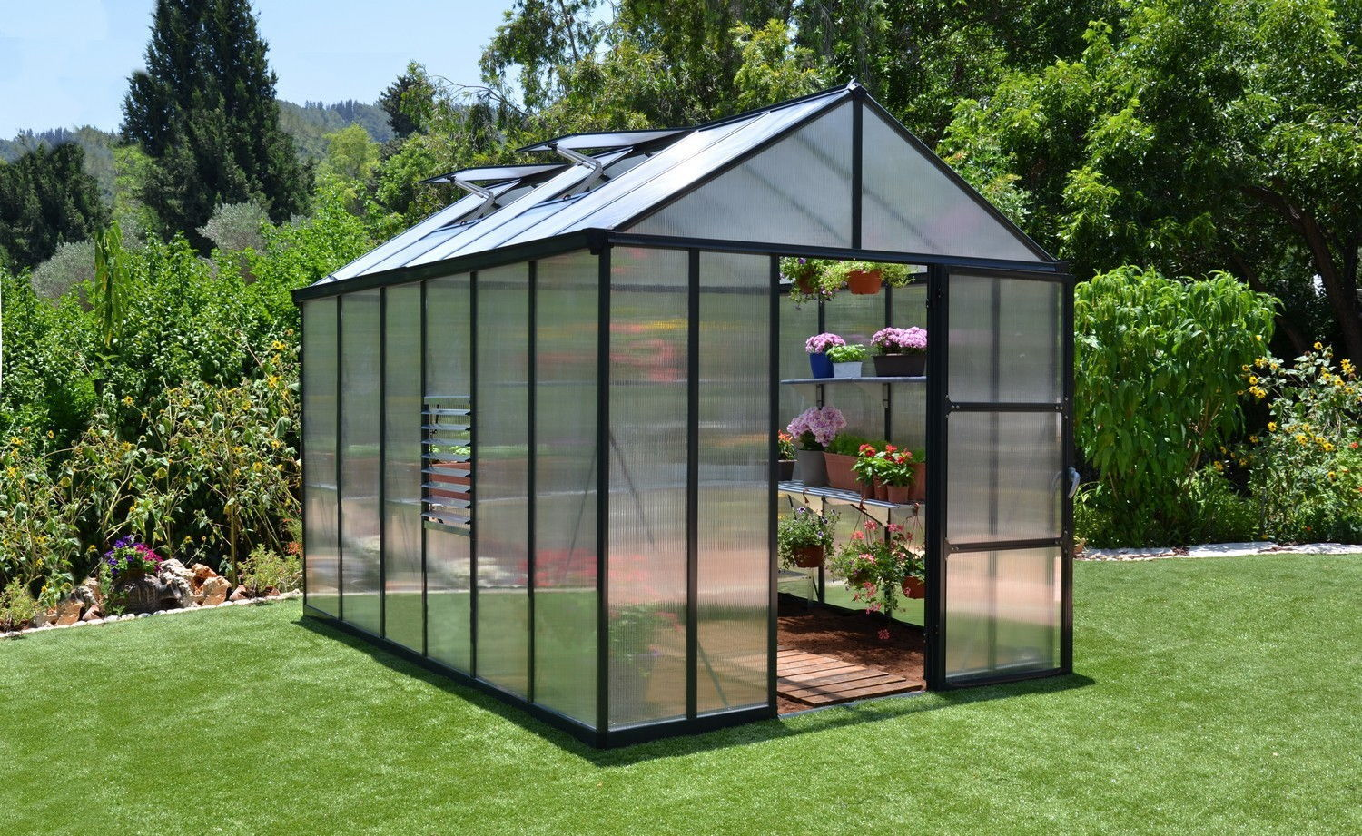 Palram Glory 8x12 Polycarbonate Greenhouse